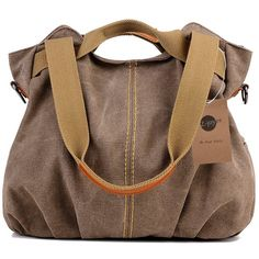 http://amzn.to/2sVmRDv  #handbags #style #fashion #designer Stylish and fashionable handbags for women with exquisite tastes  Z-joyee Women's Ladies Casual Vintage Hobo Canvas Daily Purse Top Handle Shoulder Tote Shopper Handbag Satchel Bag