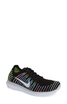 Free shipping and returns on Nike 'Free Flyknit' Running Shoe (Women) at Nordstrom.com. A snug, sock-like fit perfects the featherweight design of a virtually seamless running shoe equipped with updated—and softer—IU foam cushioning for responsive performance support. A newly designed tri-star pattern on the outsole expands and contracts according to the foot's splay, while an anatomical heel fosters natural range of motion. The revolutionary knit upper is built by a proprietary tool that…