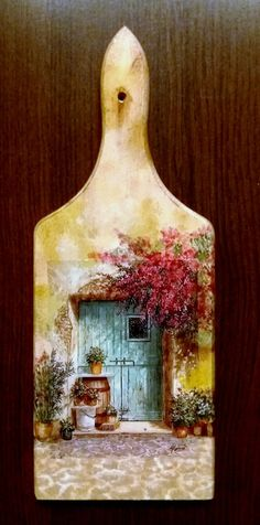 Diy Resin Crafts, Wood Crafts, Diy And Crafts, Arts And Crafts, Decoupage Wood, Decoupage Vintage, Tole Painting, Painting On Wood, Pottery Painting Designs