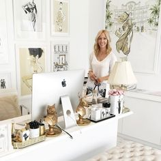 Home office decor ideas for women shabby chic 33 super Ideas