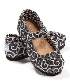 Eek! TOMS for babies!! Take a look at this Black Swirl Mary Jane - Tiny by TOMS on #zulily today!