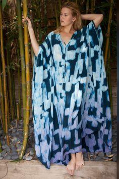 50% OFF Big Blowout SALE Printed tie dyed silk caftan