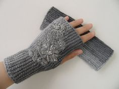 fingerless gloves, knitting gloves,  gray , gloves, gloves, woman gloves,spring accessories, valentines day