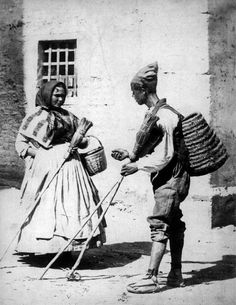 El escobero en 1870 Foto de J. Laurent