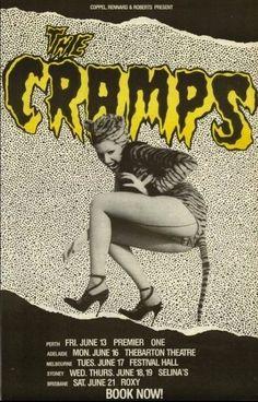 1986 The Cramps Australian tour poster