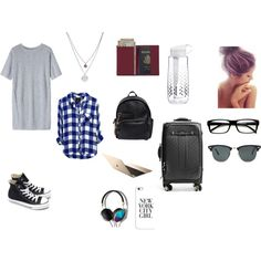 Long flights by fashion-momma on Polyvore featuring Toast, Converse, Dsquared2, GUESS, Royce Leather, Kenneth Cole, Abercrombie & Fitch, Ray-Ban, Casetify and Brita