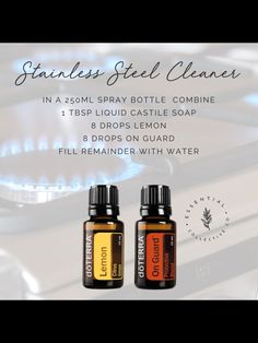 Essential Oil Spray, Essential Oils Cleaning, Essential Oil Diffuser Blends, Healing Oils, Living Oils, Doterra Essential Oils, Natural Cleaning Products, Thing 1, Diy Stainless Steel Cleaner