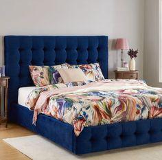 O pată de culoare. #mobexpert #paturitapitate #reduceri #dormitor #mobilierdormitor Room Design Bedroom, Small Room Bedroom, Home Decor Bedroom, My Room, Blue Bedding, Beauty Room, Corner Sofa, Blue Bedrooms, Furniture