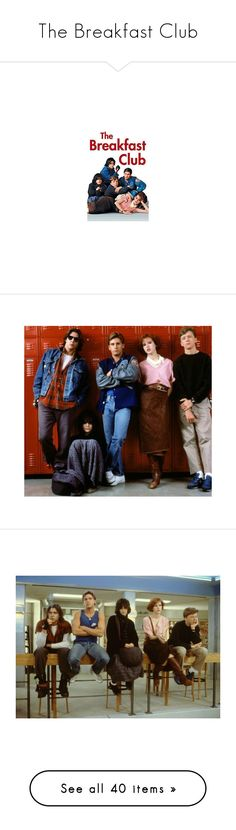 """""""The Breakfast Club"""" by nerdswag09 ❤ liked on Polyvore featuring movies, the breakfast club, pictures, backgrounds, people, photos, breakfast club, home, home decor and wall art"""
