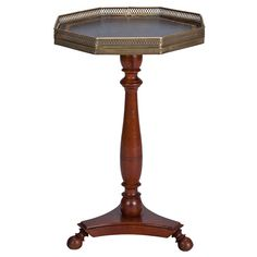 Small French Galleried Side Table   1stdibs.com