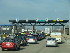 Toll booths near Chicago