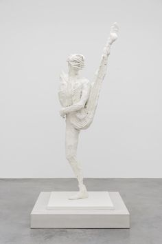 David Altmejd  - L'heure (bronze/paint) 87.5 x 46 x 30 inches 2016 [front view]
