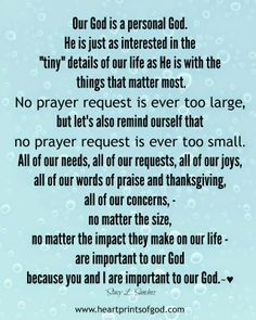 Heartprints of God: Our Personal God~