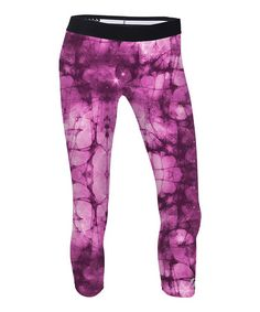Another great find on #zulily! Meadow Mauve Nebula Capri Leggings #zulilyfinds