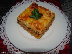 Musaca de cartofi cu carne – Flori's Kitchen Lasagna, Carne, Quiche, Breakfast, Ethnic Recipes, Morning Coffee, Quiches, Morning Breakfast, Lasagne