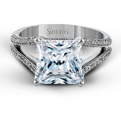 Princess-cut diamond engagement ring by Simon G.