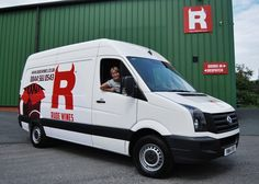 Debs is driving our new van! We'll be delivering your wine ourselves within 50 miles of Rude's HQ in Ledbury.