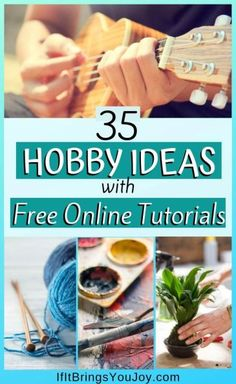 Learn new hobbies for free using this collection of free online hobby tutorials. A list of fun hobby ideas to give you plenty of interesting and unique hobbies to try. Enjoy these thing to learn and maybe you'll discover a lifetime joy. Hobbies For Women, Hobbies To Try, Hobbies That Make Money, Hobbies And Interests, Great Hobbies, Hobbies And Crafts, Popular Hobbies, Hobbies List Of, Easy Hobbies