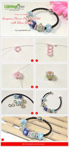 How to Make Gorgeous Flower Pearl Bracelet with Glass Beads from LC.Pandahall.com