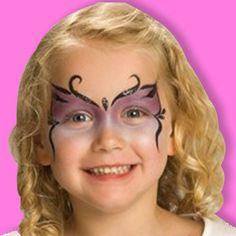 Maquillage Papillon. Décoration festive : Vegaoo Party, produits pour fêtes noel, nouvel an, carnaval, halloween