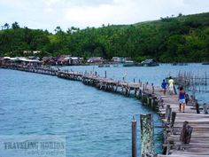 bridge connects two islands in Surigao City