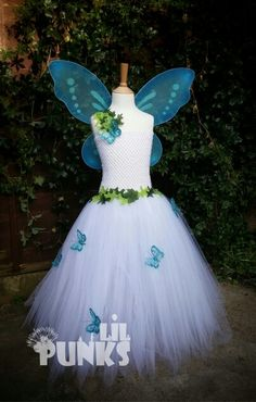 Girls full length Tutu fairy dress perfect for woodland photography shoot made by Lil punks