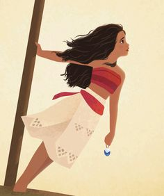 Illustration of Moana Walt Disney, Cute Disney, Disney Girls, Disney Magic, Moana Disney, Disney And Dreamworks, Disney Pixar, Moana Drawing, Grand Prince
