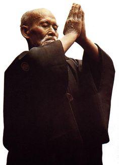 Morihei Ueshiba, founder of the Japanese martial art of aikido