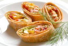Three-Pepper Feta Roll-Ups
