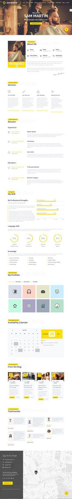 Sam Martin is an elegant, @Bootstrap HTML #portfolio template for #hairstylist #hairdresser vCard, #resume website download now➝ https://themeforest.net/item/sam-martin-personal-vcard-resume-html-template/16795240?ref=Datasata