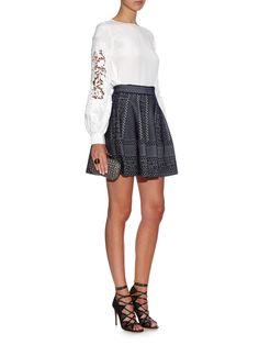 High-waisted A-line skirt  | Alexander McQueen | MATCHESFASHION.COM US