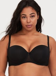 5896a45e1b8 Push-Up Smooth Cup Extreme Balconette Bra in Black Push Up Strapless Bra