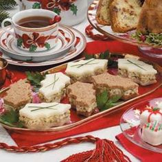 Egg 'n' Cress Tea Sandwiches Recipe -These tea sandwiches look very festive when we cut them out with a holly leaf cookie cutter. We use both white and wheat bread to vary the color and flavor.—Linda Ault, Newberry, Indiana