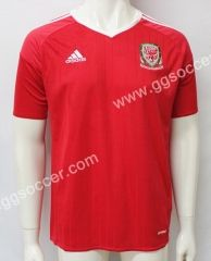2016 European Cup Wales Home Red Thailand Soccer Jersey