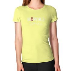 Women's Pink Ribbon Slim FitT-Shirt