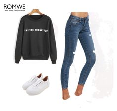 """""""ROMWE - 7/7"""" by thefashion007 ❤ liked on Polyvore"""