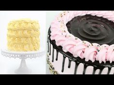 Top 5 Cake Decorating Ideas for beginners with whipped cream Cake Decorating For Beginners, Cake Decorating Set, Cake Decorating Videos, Cake Decorating Techniques, Decorating Ideas, Drip Cakes, Rose Cake Tutorial, Cupcakes, Cupcake Cakes
