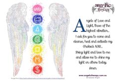 Here is a prayer that I personally use... You can always ask the Angels to help cleanse, heal and activate your Chakras. Blessings Nat xx #angelictherapy