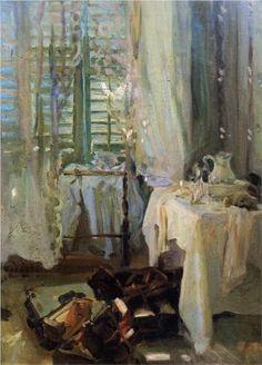 A Hotel Room - John Singer Sargent