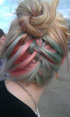 hidden hair dye underlayer color