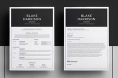 Introducing 'Blake', a simple, striking design which includes a single page Resume/CV and Cover Letter.Get it here: http://crtv.mk/cwNz