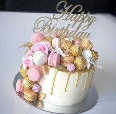 24th Birthday Cake, Elegant Birthday Cakes, Birthday Wishes Cake, Beautiful Birthday Cakes, Birthday Cakes For Women, Happy Birthday Cakes, Birthday Quotes, Birthday Ideas, Bolo Chanel
