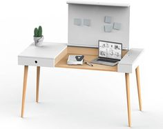 Wooden desk HOMEWORK // handmade desk, laptop desk, work desk, home office, wooden furniture, local production