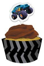 Mudslinger Party Cupcake Wrapper and Pick Set. Wrappers and Truck Cupcake Picks. A great way to decorate your cupcakes! Find it at http://www.ezpartyzone.com/pd-mudslinger-party-cupcake-wrapper-and-pick-set.cfm