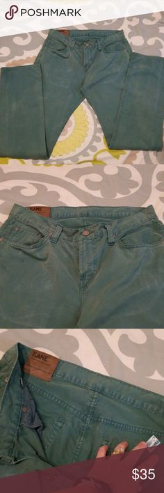 """J BRAND MENS JEANS Slim KANE Straight Leg sz 33 J BRAND JEANS Slim KANE Straight Leg Rush Green color size 33. 100% Cotton  Approimate 34"""" inseam. 5 pocker zip fly. Gently worn and pictures show condition J Brand Jeans Slim Straight"""