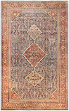 Antique Sultanabad Persian Rug 50222
