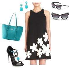 mod turquoise and black