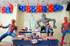 SPIDER MAN Birthday Party Ideas | Photo 4 of 53 | Catch My Party