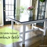 Ikea Hack DIY Farmhouse Table