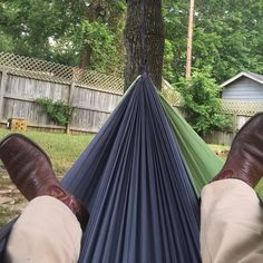 After living in Arkansas for a year we're finally in a house where I can hang in a hammock in my back yard! #eno #hammocklife by @jtf580
